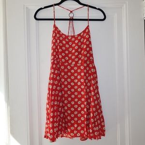 Millau Strappy Red Print Dress